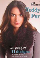 Panda Teddy Fur Knitting Pattern Book 301 - 11 Designs for Women, Girls and Home