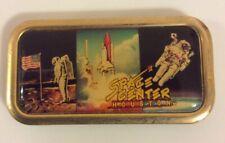 """Space Center Houston Souvenir Magnet 2"""" X 1"""" Rectagle Metal Astronauts"""