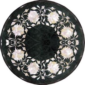 "12"" Marble side Table Pietra Dura Handicraft art Work home decor"