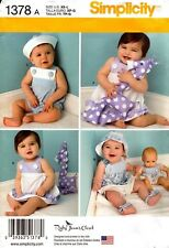 Simplicity Sewing Pattern 1378 Baby SunDress Panties Romper Hat Sewing Size XS-L