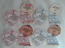 UNIQUE PERSONALIZED BABY SHOWER INVITATION OR THANK YOU CARDS SHAPED LIKE BABY