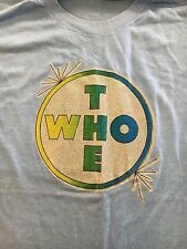 The Who Vintage Iron On T Shirt Rare Sparkle Keith Moon Pete Townshend Xl Tag