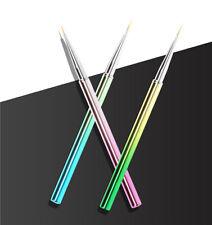3 pcs Chameleon Electroplate Nail Brush Set for Detailing Striping brush set