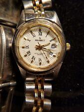 Peugeot Women's Link Bracelet  Stainless Watch w/date Roman numerals