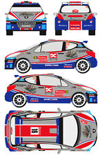 1/43 Decal Peugeot 207 S2000 #16 Rally Montecarlo 2012