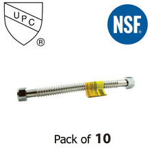 """Stainless Steel Water Heater Connector 1-1/2"""" Fip X 1-1/2"""" Fip X 18""""- Pack of 10"""