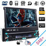 """Single 1Din In-dash Car Stereo 7"""" Touch Screen DVD/CD Player GPS Aux iPod Radio"""