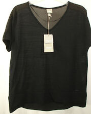 New BENCH Lanorda Black Knit Top V-Neck Sz S Small NWT