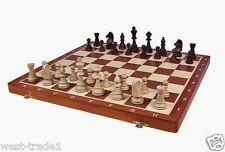 Brand New♞Hand Crafted ♜ Wooden Chess Set Tournament♜48cm x 48cm♜Weighted pieces
