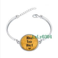 Bless Your Heart glass cabochon Tibet silver bangle bracelets wholesale