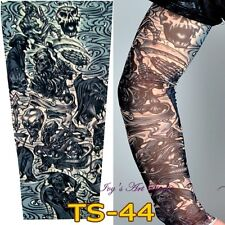 Stretchy Temporary Fake Tattoo Sleeve Printed Costume Punk Fancy Dress TS-44