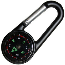 Haller kleiner Kompass mit Karabinerhaken Orientierungshelfer Durchmesser 2,5 cm
