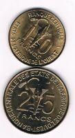 Westafrikanische Staaten   10 + 25 Francs 1980 +1981   FAO     (Box 5)