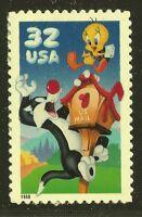 US Scott #3205a, Single 1998 Sylvester & Tweety 32c VF MNH