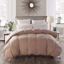 800FP Goose Down  Khaki Comforter 100% Egyptian Cotton 800FP Soft Queen Size
