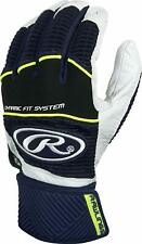 RAWLINGS WORKHORSE COMPRESSION STRAP BATTING GLOVES WORKCSBG ADULT SMALL NAVY