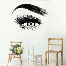 Eye Eyelashes Wall Decal Sticker Eyebrows Beauty Salon Make Up Vinyl Wall Sticke