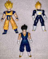 Dragon Ball Z Ultimate Collection Action Figure Lot Goku Vegeta Vegeto 4in 2008