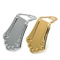 NEW Gypsy Jazz Guitar Django Selmer Style Tailpiece w// Bakelite Insert BRASS