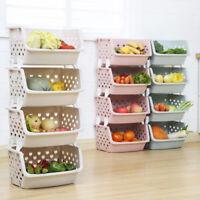 Kitchen Storage Stacking Stackable Basket Fruit Vegetable Rack 1 2 3 4 5 Tier