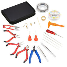 Jewelry Making Supplies Kit - Repair Tools with Accessories Pliers Beading Wires