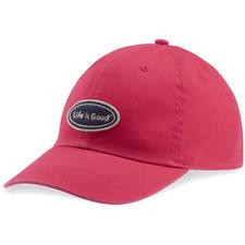 e8eac869a9d Life Is Good Women s Chill Cap Lig Oval Cotton Baseball Hat Pop Pink