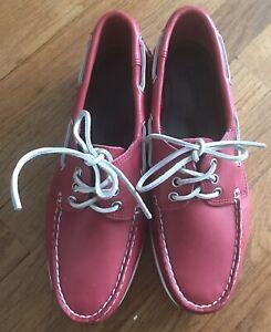 Quoddy Men's Red Docksiders 9D Brand New
