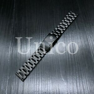 20MM FOR OMEGA SEAMASTER WATCH BAND 2541.80 BRACELET STAINLESS STEEL HEAVY BLACK