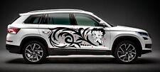BETTY BOOP DECAL CUTE GIRL SWIRLS TRIBAL DESIGN GRAPHIC VINYL SIDE CAR TRUCK
