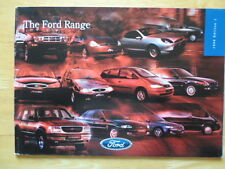FORD CARS 1998/03 UK Market brochure - Fiesta Escort Puma Ka Mondeo Scorpio