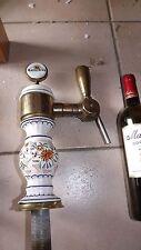 Rouen Normandy Pub Tavern Beer Ceramic Tower Dispenser Rustic Deco Keg Draft (4)