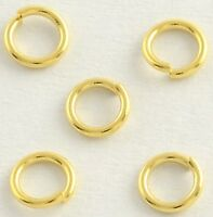 8mm Gold Plated Stainless Steel 16 Gauge 1mm Open Jump Rings Finding Connector