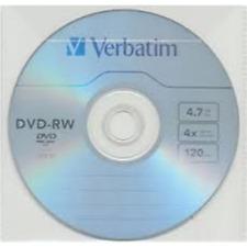 1 DVD-RW 4.7GB 4X 120min Riscrivibile Verbatim