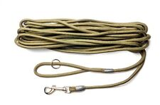 10 Meter 2 in 1 Training Dog Lead and Exercise Line - Green Super Soft Nylon