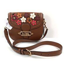 Coach Jade Leather Daisy Applique Saddle Bag Color Saddle Redwood NWT $398