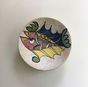 1960s Large Spanish Sanguino Pottery Decorative Fish Wall Plate / Charger
