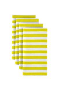 """Small Stripes Yellow 18"""" x 18"""" Napkins 1 Dozen"""