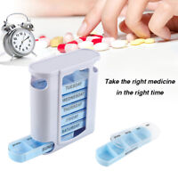 Pill Box Organiser Case Tablet Container Dispenser Storage 7 Day Weekly Daily UK