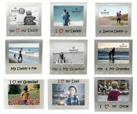 Fathers Day Gift For Dad Daddy Grandad Grandpa Uncle Photo Picture Frame for Him