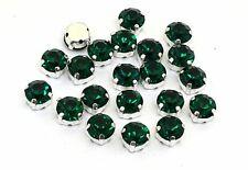 100x EIMASS Emerald Green 3mm Glass Cut Rhinestones CrystalsGems Sew On Glue On