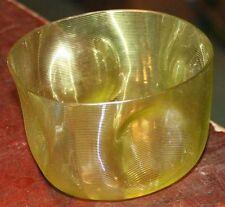 Glasschale Uranglas antik Glas Fadenglas Rillenglas polierter Stand 19. Jahrhund