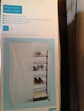 SALE! Shoe Rack/Closet with Cover, 6 Steel Shelves,Easy Assembly No tools needed