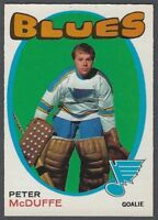1971-72 O-Pee-Chee St. Louis Blues Hockey Card #225 Peter McDuffe RC