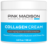 Skin Tightening Collagen Cream. Anti Aging Face Treatment with Hyaluronic Acid