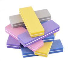 10pcs Mini Multicolor Nail File Block Buffer Sanding Salon Nail Art Tools d