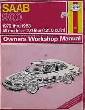 SAAB 900 1979-1983 All Models  2.0 liter - Haynes Owners Workshop Manual