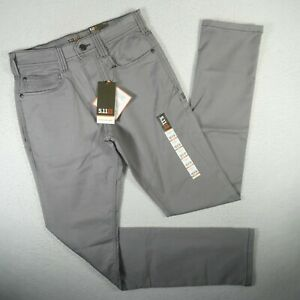 NWT 5.11 Tactical Pants Mens 28x36 Gray Flex Slim Fit Concealed Carry Defender