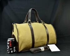 "New Ghurka 18"" Olive Canvas/Walnut Leather Carry-On Cabin Luggage Duffel Gym Bag"