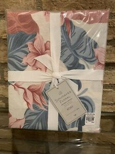 Pottery Barn Teen Roxy Sunsoaked Floral Shower Curtain Beachy Floral New