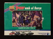 DESPLEGABLE FC BARCELONA DREAM TEAM SPORT BARÇA CAMPEON LIGA 1990 91